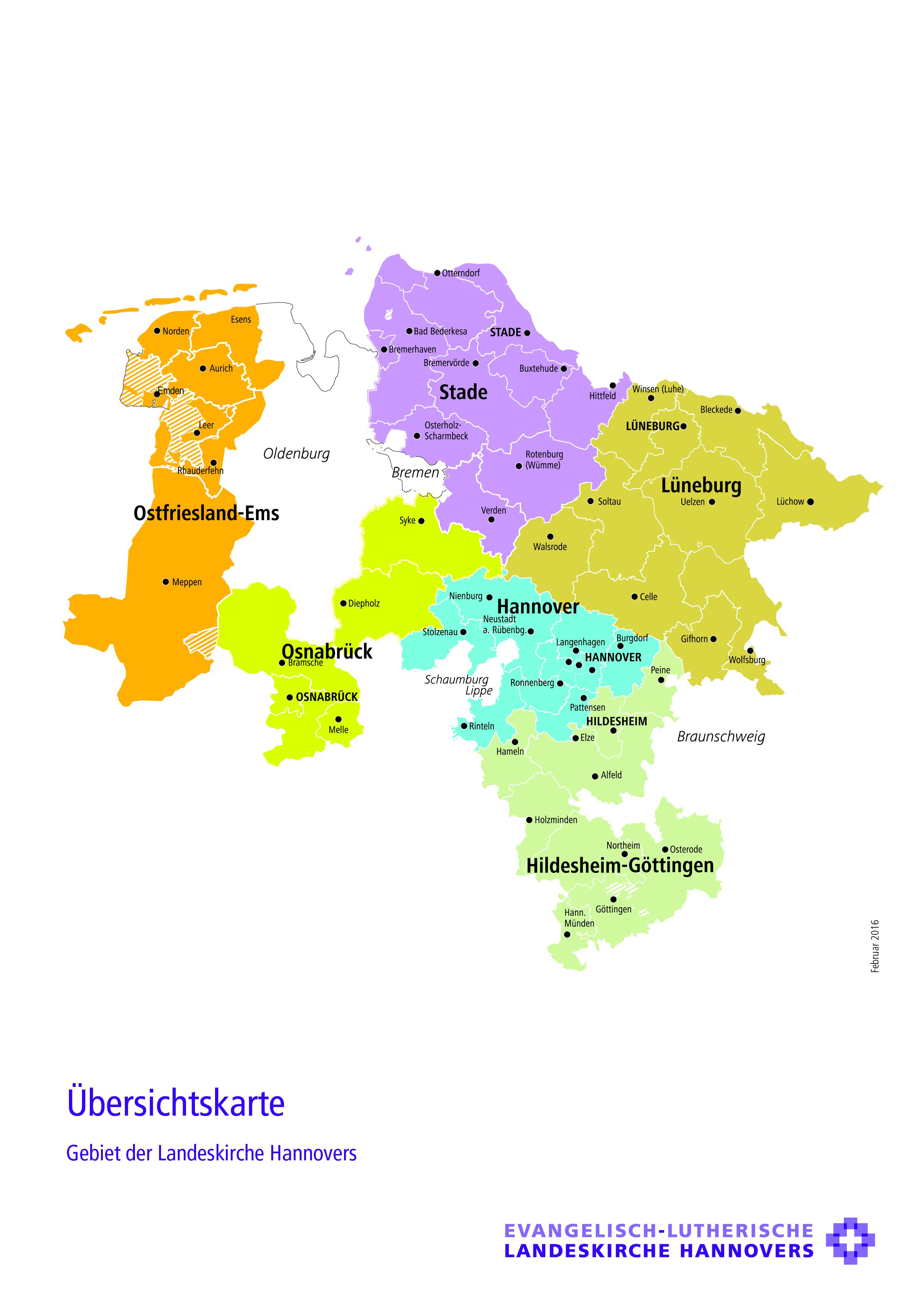 Karte Der Landeskirche